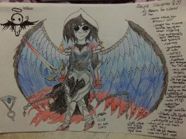 Alnyra the angel warrior (adult) by Lifeistrange