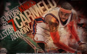 Carmelo Anthony Knicks by IshaanMishra