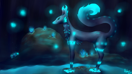 Glowing Caves [redraw] by BackFromHell666