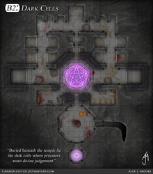 Drow Temple - B2: Dark Cells by Canada-Guy-Eh