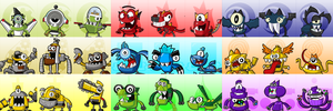 Mixels Series 4-6 Icons/Portraits (F2U On Sta.sh) by maklein