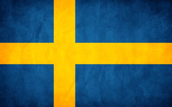 Sweden Grunge Flag by think0