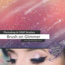 Brush on Glimmer Photoshop and GIMP Brushes by redheadstock