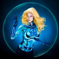 Invisible Woman Bodypaint by KayPikeFashion