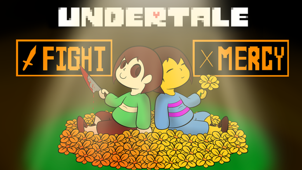 Frisk and chara undertale by Sky-Sketch