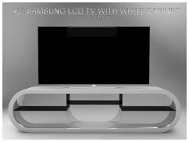 Tv with white cabinet by fukm