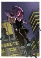 Gwen Stacy is Spider-Woman - Color by PaperMoon92