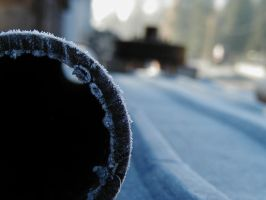Frost on Heavy Pipe by glasswillow