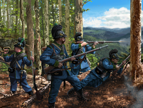 Bavarian 5th Jager Battalion - Summer 1870 by ManuLaCanette