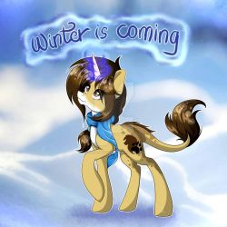 Winter is coming -Zoey Lioness (MLP OC) by LorettArtHun