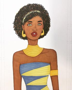 Inktober Day 29   Nubian Queen by lilypippili