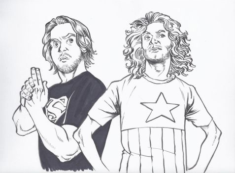 Game Grumps' Arin and Danny by Ben Dunn by greatdragonad