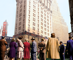 New York on D DAY - Photo Colorization by marinamaral