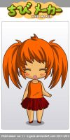 Pigtail girl (me) from fnaf 4, made in chibi maker by ChloeSmithGirlFnaf4