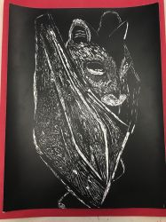 Scratch Art - Bat by Live-My-Way