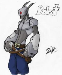 robot colored by ZipAlegria