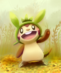 Here's chespin by mudkip-chan