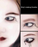 Eyeliner Brushes by Kittyd-Stock