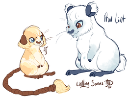 Lintling Sonas: AJ and Prov by CloverCoin