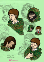 Ranger's Apprentice Doodles (Touched Up) by EveryDayArtist