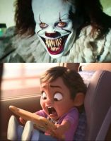 Baby Moana Got Scared By Pennywise by SCP-096-2