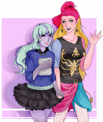 Gigi and Twyla by Spacegee