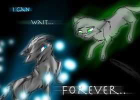 Jayfeather and Moon (a wee bit old) by Imaginer-Fox