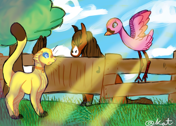 rage at the farm by TheSatisfideDoge