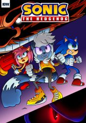Sonic The Hedgehog IDW Mock Cover by zeldalegends4525