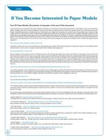 Free Guide - Find Paper Models by PixelOz