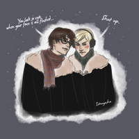 Christmas Harry/Draco Doodle by Isi-Angelwings