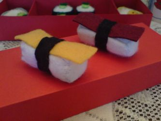 Felt: Tamago Nigiri and Tuna N by jeni-c