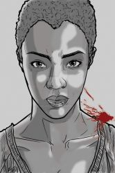 Walking Dead Sketch Card: Sasha by darlinginc