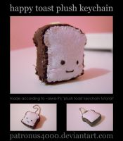 Happy Toast Plush Keychain by patronus4000