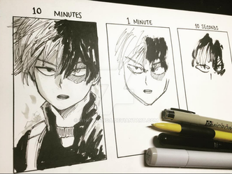 Todoroki Drawn in 10 MINUTES, 1 MIN and 10 SECS by WhytManga