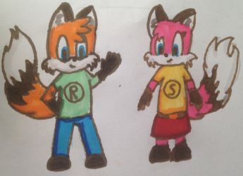 Rene and Signe the foxes by AlliCali