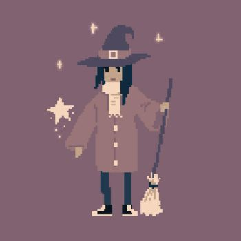 Witch - animated pixel art by Maarika
