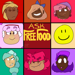 Ask Free Food (Link Below!) by Art-Tart-Taffyness