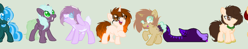 Small group of ponies by KociaPolka16