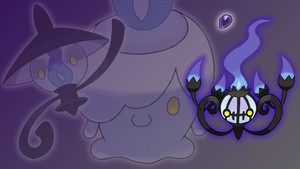 Litwick, Lampent and Chandelure Wallpaper