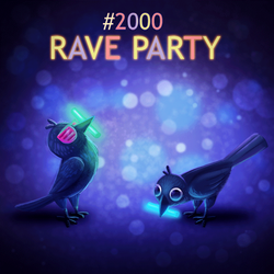 Daily Paint 2000# Rave Party! (Animated) by Cryptid-Creations