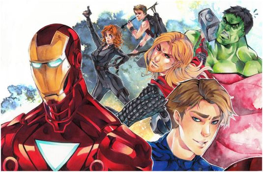The Avengers by XMenouX
