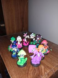 All 10 of the Splatoon series Amiibo! by Sephy90
