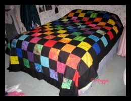 Multi-Color Quilt by ThreeRingCinema