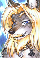 FurJam 2012 Winner: Volund Portrait by carnival
