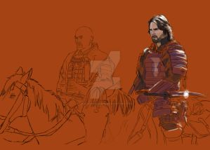 Last Samurai Digital Painting process