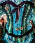 WIP mermaid outfit corset decorating by Cyanida