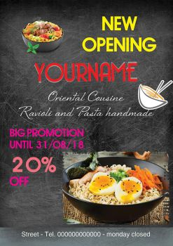 New opening restaurant flyer by NapoOrsoCapo