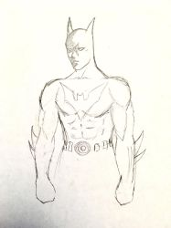 Batman Beyond Sketch  by audiobrainiac