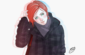 Red hair is cool by devilarcana